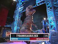 アメリカ版SASUKEに恐竜ティラノサウルスが参戦した結果www