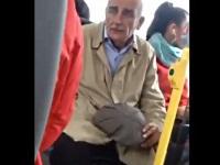 バス内でオナニーをするおじいちゃん