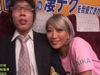 素人男性がチャレンジ!黒ギャル女優AIKAの凄テクフェラ手コキを我慢できれば中出しSEX!