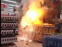 スーパーの花火売り場で放火事件が発生!騒然とする現場の様子がこちら...