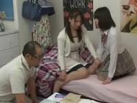 「私もSEXがしたい!」美人家庭教師と父親にHを懇願する処女女子校生