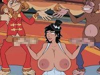 Meet and Fuck: Big Top Bangeroo サーカスの動物達と獣姦するエロフラッシュ