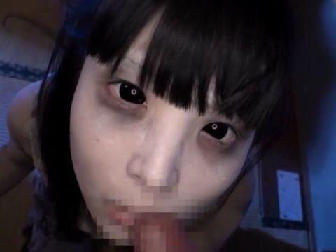 眼が真っ黒な悪霊 全眼女のフェラチオムービーが怖すぎる!!
