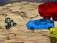 カラーマッチシューター 同じ色の弾丸で車を撃破していくゲーム