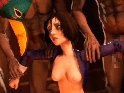 【3DCGアニメ】「BioShock」のヒロインたちが痴女になったりレイプされたりするアニメ