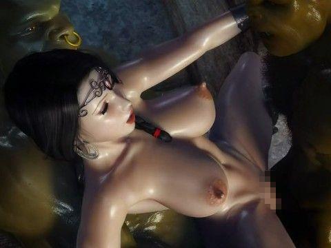 【3DCGアニメ】オークにハメられまくる爆乳美女
