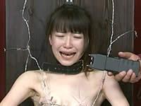 【鬼畜拷問】有刺鉄線を巻きつけて電流責めされる女の子