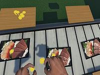 VR空間で『お刺身にタンポポをのせるお仕事』を疑似体験できるゲームが登場!
