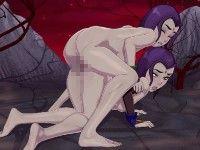 Raven 3D レイブンが自分のクローンと乱交するエロフラッシュ