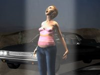 【3DCGアニメ】車で移動中の女性が宇宙人からの「アブダクション」に遭遇!