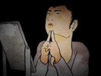 【アニメ】顔中にできてしまった吹き出物を押し潰していく「つぶす」