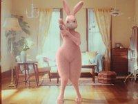 【ケモナー】「アセチノ」CMのピンクウサギがエロいと自分の中で話題に!