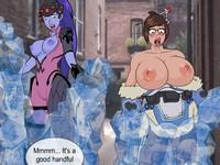 Overwatch Porn 襲われたメイとウィドウメイカーが媚薬をかけられハメられるエロフラッシュ