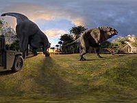 【VR】ジュラ紀の恐竜世界を体感!