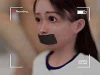 【3DCGアニメ】手ぶれの臨場感がヤバい!覆面男に自宅侵入レイプされるロリ