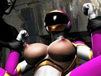【3DCGアニメ】仲間に裏切られた処女ヒロイン・ピンクが屈辱の洗脳レイプ!