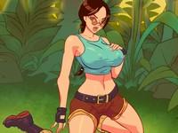 Porn Bastards - Lara ララが冒険中の森の中で野外SEXするエロフラッシュ