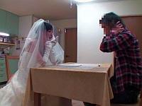AV女優と新婚生活!?野村萌香が婚姻届を持ちウェディングドレスを着てやってきた!