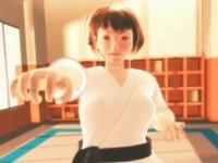 【3DCGエロアニメ】魔物を師範と思い込んで稽古SEXされる空手少女