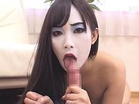 【無修正】ハロウィンの夜は妖怪人間メイクをした熟女で抜こう!【閲覧注意】