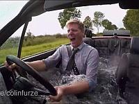 車に乗りながら風呂に入ってBBQしてみたwwww