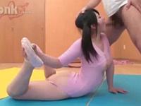 時間を止めてツインテールの可愛い新体操部員をレイプ