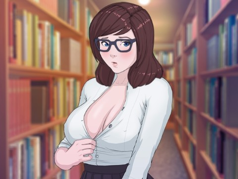 Quickie: Satomi  眼鏡の巨乳司書と図書館でハメるエロフラッシュ