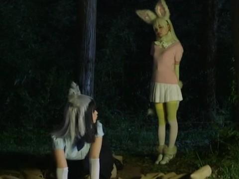 けもフレパークのアイドル「PPP」に化けたエロリアンに捕まって犯されてしまうアライさんとフェネック!