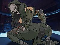 Reaper Anal Rodeo 女体化リーパーが巨根で中出しされるエロフラッシュ