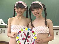 中学生ジュニアアイドルが水着姿でツイスターをしている動画でゲームのルールを学ぼう!