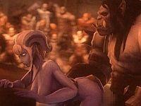 【3DCGエロアニメ】闘技場で見せしめの凌辱レイプをされる獣人女性