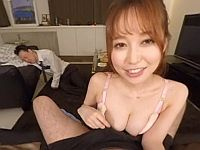 【エロVR】泥酔して眠った上司の傍で美人妻に誘惑されて不倫中出しSEX!