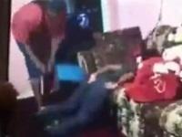 【閲覧注意】ベルトで14歳の娘をシバき、髪の毛をバリカンでカットする鬼畜な父親