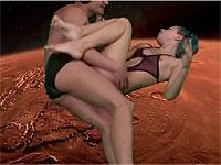 宇宙でセックスしながら歌うミュージックビデオ