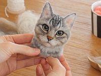 リアルすぎてヤバい!!本物そっくりの羊毛フェルト猫
