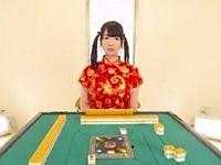 【エロVR】ツインテール女子と真剣な脱衣麻雀対決!