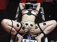 【エリート変態女】クリトリスに針を刺して乳首に電気を流す拷問プレイ