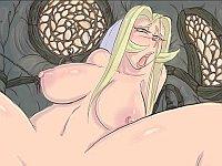 Jane had enough 痴女シスターが教会で男とハメまくるエロフラアニメ