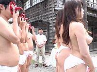 その村に住めば妻は必ず共有化!強制スワッピング村の野外大乱交祭り