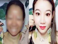 スッピン顔とメイク顔のギャップがひどい中国人女性が完全に詐欺www