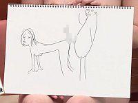 絵が得意な「あず希」さんと絵心のない「夏樹まりな」「加藤ツバキ」さんが、エロ罰ゲーム有りの写生対決!www