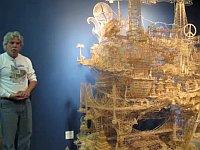 製作年数35年!10万本の爪楊枝で作った「サンフランシスコ」名所アート