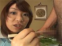 チ○ポ専門の高級割烹で女子アナが試食レポ!