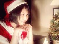 サンタコスのショートヘア美女「湊莉久」さんとイケメン男優「タツ」くんのラブラブクリスマスデート!