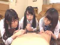 3人の義妹にチンコ研究の標本としてトリプルフェラされたでござる!!【七海ゆあ 山井すず 皆野あい】