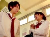 【男装JK】FTMな阿部乃みくとバイな麻里梨夏の貝合わせレズプレイ!