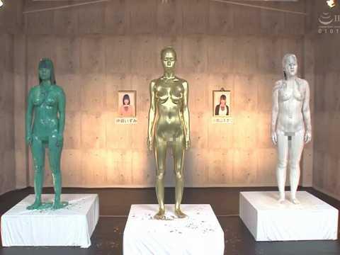 【WAM】時間停止時計で捕まえた女性たちをペイントしてウェット&メッシー美術館を開設!