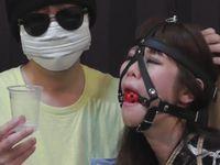 監禁された女が着衣緊縛と猿ぐつわでひたすら唾液を採取されるツバフェチ動画