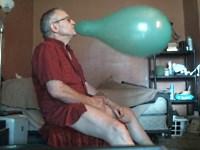 【風船フェチ】ジジイが風船を膨らませて自慰