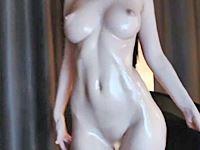 【ライチャ無修正】FF召喚獣シヴァのような美麗パイパンボディを晒す自撮り女神